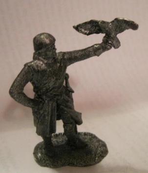 Лицар воєн фігурка статуетка сувенір обладунки меч з соколом сплав олова