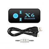 Беспроводной адаптер Bluetooth приемник аудио ресивер BT-X6 TF card, фото 4