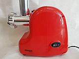 Электрическая мясорубка с насадками Wimpex WX-3076 2000W, фото 3