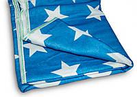 Электрическое одеяло с подогревом 170х150 см. (синяя с белыми звездами) электропростыня двуспальная,