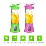 Фитнес-блендер Smart Juice Cup Fruits QL-602 Портативный миксер, шейкер с USB, фото 3