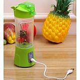 Фитнес-блендер Smart Juice Cup Fruits QL-602 Портативный миксер, шейкер с USB, фото 5