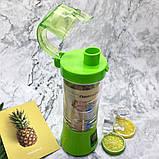 Фитнес-блендер Smart Juice Cup Fruits QL-602 Портативный миксер, шейкер с USB, фото 7