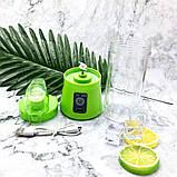 Фитнес-блендер Smart Juice Cup Fruits QL-602 Портативный миксер, шейкер с USB, фото 8