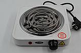 Электроплита 1 комфорка, спиральная, WimpeX WX-100B-HP, мощная плита, фото 3