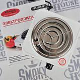 Электроплита 1 комфорка, спиральная, WimpeX WX-100B-HP, мощная плита, фото 4