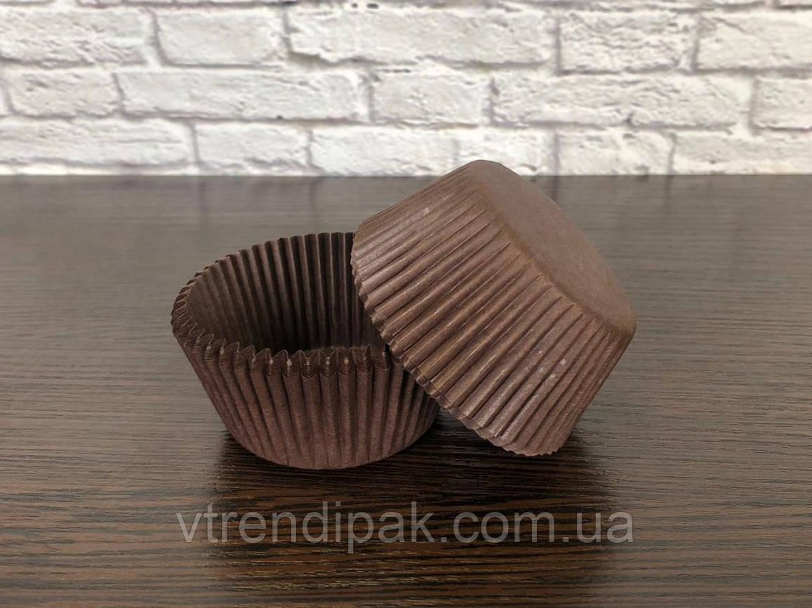 Форма паперова для цукерок Коричнева, Д30мм, висота 24мм (Комплект 100шт)