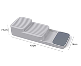 Кухонный органайзер для ножей DrawerStore, лоток для ножей, подставка для ножей, фото 4