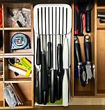Кухонный органайзер для ножей DrawerStore, лоток для ножей, подставка для ножей, фото 8