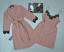 Комплект домашньої жіночого одягу халат, нічна сорочка.