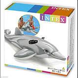 Детский надувной плотик Intex 58535 Дельфин, 175 х 66 см, фото 2