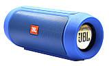 Портативная колонка JBL Charge 2+ Большая! блютуз (bluetooth) + радио + микрофон + PowerBank СИНЯЯ, фото 4