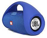 Колонка JBL BOOMBOX MINI E10 с USB, SD, FM, Bluetooth, 2-динамиками, хорошая реплика JBL СИНЯЯ, фото 3