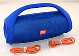 Колонка JBL BOOMBOX MINI E10 с USB, SD, FM, Bluetooth, 2-динамиками, хорошая реплика JBL СИНЯЯ, фото 7