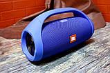Колонка JBL BOOMBOX MINI E10 с USB, SD, FM, Bluetooth, 2-динамиками, хорошая реплика JBL СИНЯЯ, фото 8
