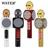 Беспроводной портативный микрофон WSTER WS-1816 для караоке с подсветкой Bluetooth, фото 2