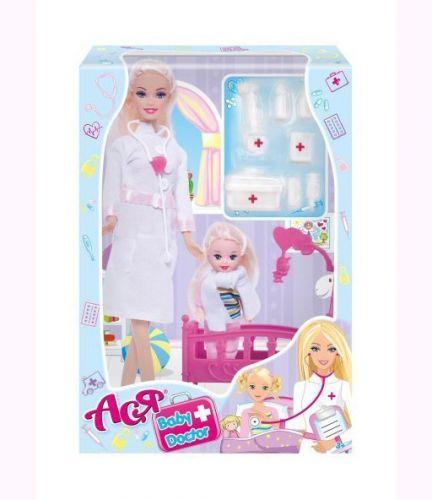 """Кукла """"Ася"""" с докторским набором 35101"""