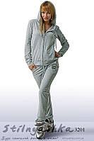 Спортивный женский костюм Dolce & Gabbana серый