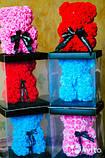 Мишка из 3D роз 40см в красивой подарочной упаковке мишка Тедди из роз оригинальный подарок, фото 3