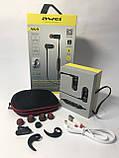 Спортивные беспроводные Bluetooth наушники Awei AK4 Black, фото 7