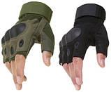 Перчатки без пальцев  штурмовые тактические Oakley, фото 3