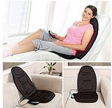 Массажная накидка на кресло Massage Seat Topper 5 вибрационная с пультом управления для дома и автомобиля, фото 3