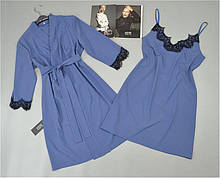 Халат, нічна сорочка комплект домашньої одягу.