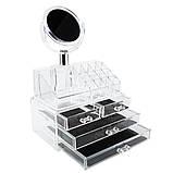 Универсальный вместительный Органайзер для косметики с Зеркалом GW-888. Лучшая Цена!, фото 4