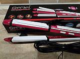 Утюжок гофре стайлер плойка для волос 3 в 1 Gemei GM-2921 (локоны, выпрямитель, гофре), фото 2