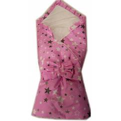 """Конверт одеяло на выписку Baby 3 в 1. """"Розовые звезды"""""""