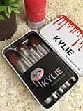 Набор кистей Kylie 12шт для макияжа Кайли кисточки в контейнере, фото 3