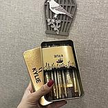 Набор кистей Kylie 12шт для макияжа Кайли кисточки в контейнере, фото 4