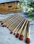 Набор кистей Kylie 12шт для макияжа Кайли кисточки в контейнере, фото 8