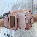 Женский Кошелек замшевый Baellerry Forever Mini, женский клатч, портмоне ПУДРА, фото 4