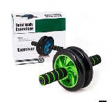 Гимнастическое спортивное фитнес колесо Double wheel Abs health abdomen round   Тренажер-ролик для мышц, фото 3