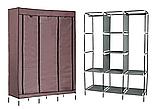 Складной каркасный тканевый шкаф Storage Wardrobe 88130, шкаф на три секции 130*45*175, фото 5
