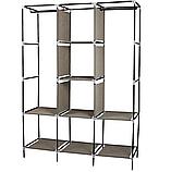 Складной каркасный тканевый шкаф Storage Wardrobe 88130, шкаф на три секции 130*45*175, фото 6