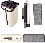 Швабра и Ведро Большое Scratch Cleaning Mop со складной ручкой и системой отжима, две насадки микрофибры, фото 3