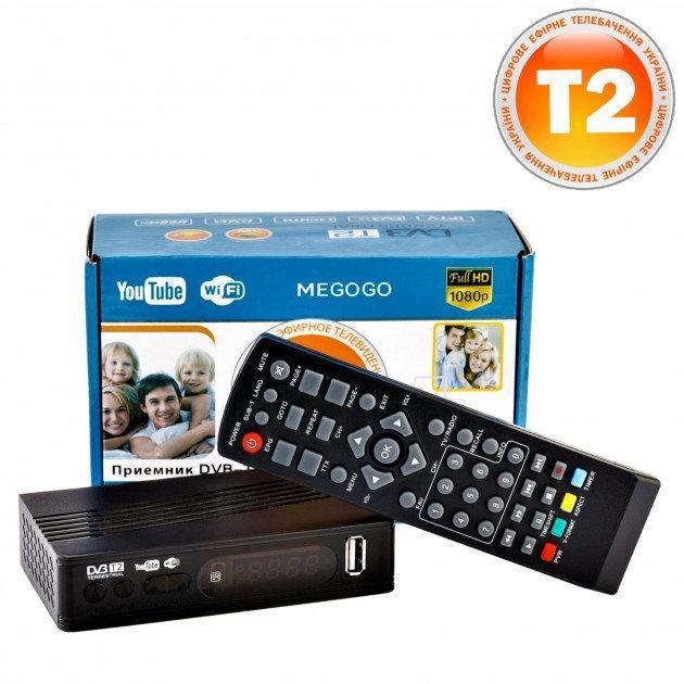 Тюнер T2 MG811 приставка с просмотром YouTube IPTV WiFi HDMI USB MEGOGO