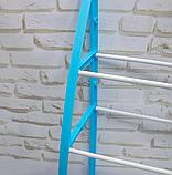 Стеллаж над унитазом этажерка напольная органайзер для туалета WM-64 Голубая, фото 4