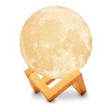 Ночник 3D светильник луна Moon Touch Control 15 см, 5 режимов, фото 6