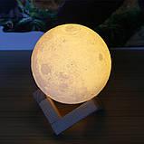 Ночник 3D светильник луна Moon Touch Control 15 см, 5 режимов, фото 8