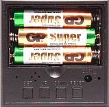 Настольные часы VST-876-5 с синей подсветкой в виде деревянного бруска, фото 9