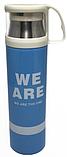 Термос вакумный стальной 500 мл с кружкой -«We are, I am, They one, Yours», фото 3
