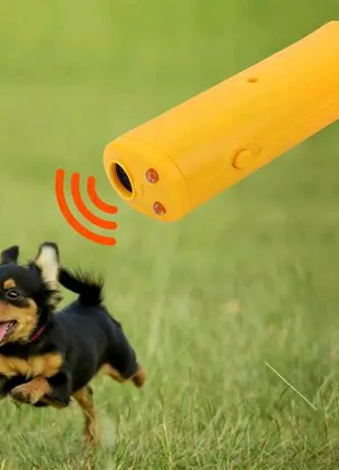 Ультразвуковой отпугиватель AD-100 собак с батарейкой в комплекте без фонарика Super Ultrasonic 150dB