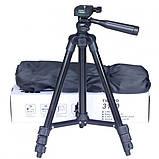 Штатив для фотоаппарата трипод 3120A + чехол Чёрный, фото 2