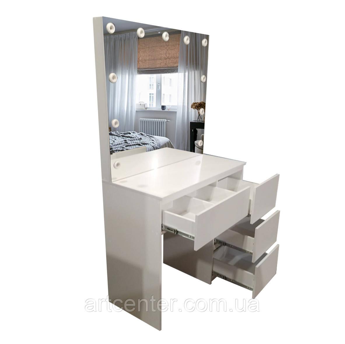 Стола для макияжа, визажный стол, центральный ящик с разделителем, без ручек