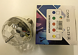 Мощная диско лампа 6 LED Color Rotating Lamp, вращающаяся диско лампа, диско шар для вечеринок RD-5006, фото 7