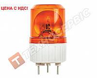 Маячок проблесковый оранжевый 12 вольт (мигалка) EMR-17 стационарное крепление (пр-во EMIR) Турция