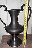 Оловянная ваза-амфора, клеймо, винтаж, Европа, фото 4